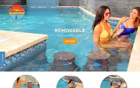 Screenshot of Home Page liquidseat.com - Pool Bar Stools, Pool Seats, Pool Furniture - Liquidseat - captured July 15, 2016