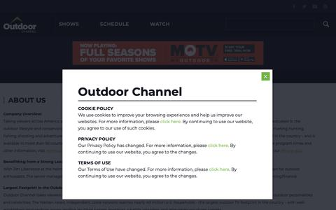 Screenshot of About Page outdoorchannel.com - OC - About - Outdoor Channel - captured Nov. 12, 2018