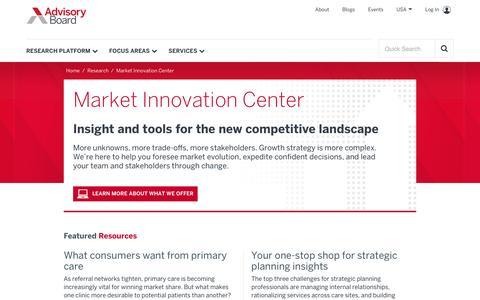 Market Innovation Center | Advisory Board