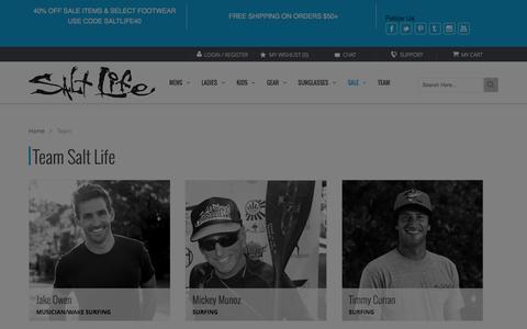 Screenshot of Team Page saltlife.com - Team SaltLife - captured Dec. 17, 2015