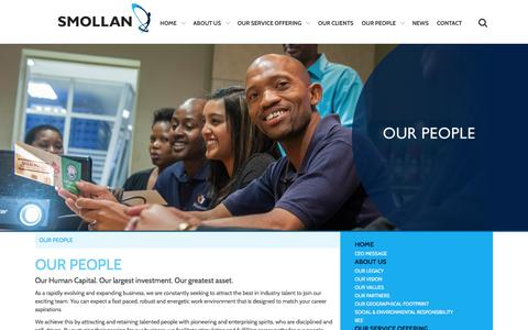Screenshot of Team Page smollan.co.za - Our People - captured Feb. 23, 2016