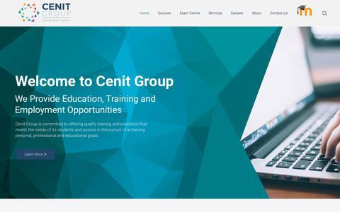 Screenshot of Home Page Terms Page cenitgroup.ie - Cenit Group - Providing Education, Training and Employment Opportunities - captured Feb. 16, 2018
