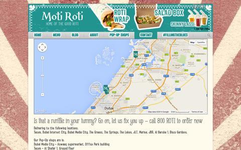 Screenshot of Contact Page motiroti.me - Contact - Moti Roti - captured Oct. 26, 2014