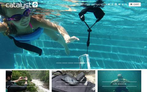 Screenshot of Home Page catalystlifestyle.com - Waterproof iPhone cases for all of Life's Adventures by Catalyst - captured Jan. 17, 2016
