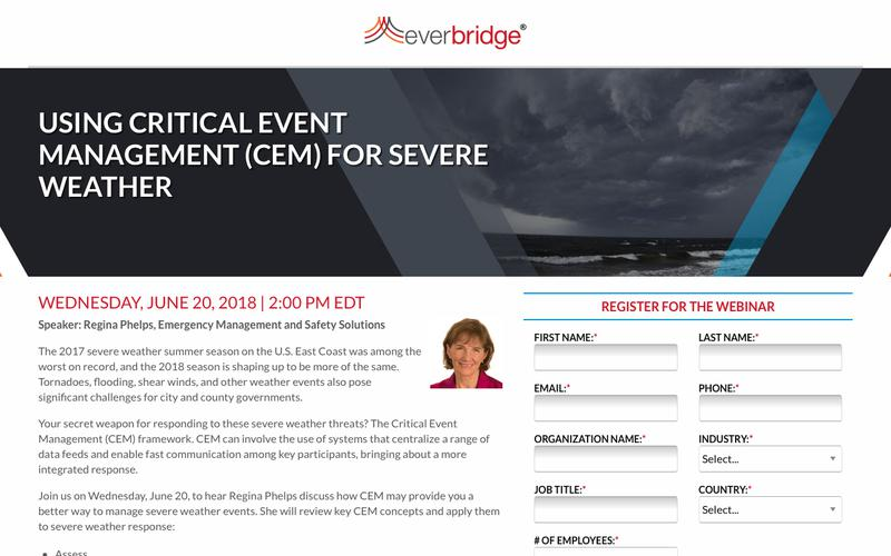 Severe Weather Critical Event Management