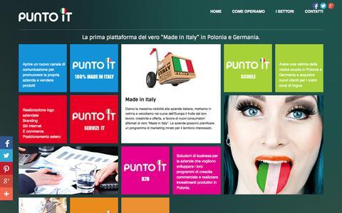 Screenshot of Home Page puntoit.eu - PuntoIT - 100% Made In Italy B2B Portale per la Polonia e la Germania - captured Sept. 24, 2014