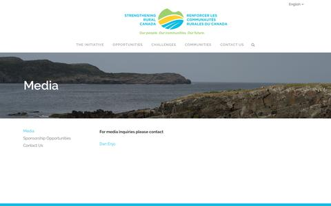 Screenshot of Press Page strengtheningruralcanada.ca - Media — Strengthening Rural Canada - captured Jan. 2, 2017