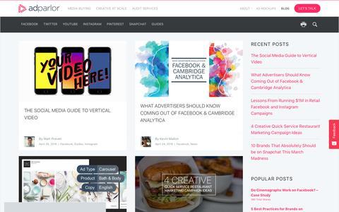 Screenshot of Blog adparlor.com - Blog | AdParlor - captured June 19, 2018