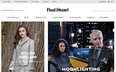 Screenshot of Home Page paulstuart.com - Paul Stuart - Fine Men's & Women's clothing - captured Nov. 3, 2015