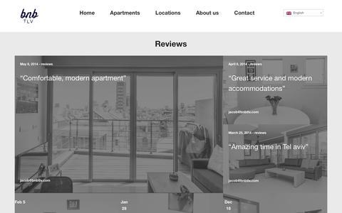 Screenshot of Blog bnbtlv.com - Reviews  |  Work Rest Play. | Luxury Apartment Rentals In Tel Aviv, Israel. - captured Dec. 28, 2015