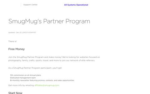 SmugMug |        SmugMug's Partner Program