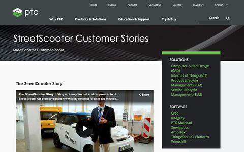 Screenshot of Case Studies Page ptc.com - StreetScooter: It's electric, it's complex, it's electromobility | PTC - captured Nov. 13, 2018