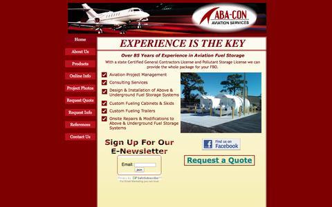 Screenshot of Home Page aba-con.com - Home - captured Sept. 30, 2014