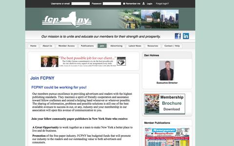 Screenshot of Signup Page fcpny.com - Join FCPNY - captured Oct. 6, 2014