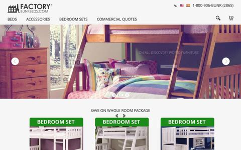 Screenshot of Home Page factorybunkbeds.com - Bunk Beds for Sale - Choose from the Best - captured Jan. 26, 2016