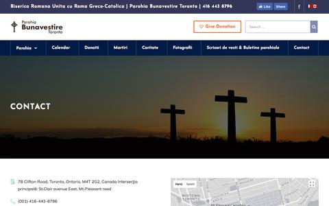 Screenshot of Contact Page bunavestire.org - Contact – Annunciation Byzantine Romanian Catholic Mission - captured Oct. 8, 2017