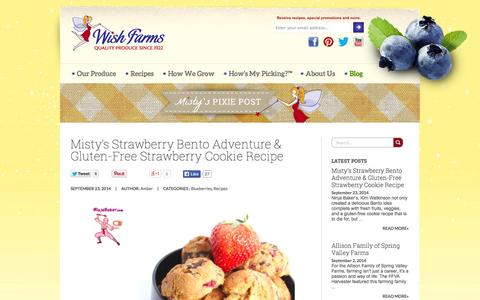 Screenshot of Blog wishfarms.com - Produce Industry News | Berry & Vegetable Recipes | Wish Farms Blog - captured Oct. 7, 2014