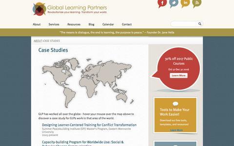 Screenshot of Case Studies Page globallearningpartners.com - Case Studies  Global Learning Partners - captured Nov. 8, 2016