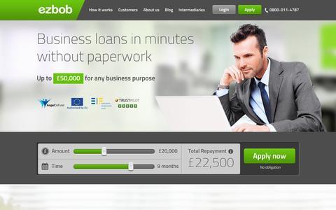 Screenshot of Press Page ezbob.com - Business Loans & funding for uk companies - captured Sept. 16, 2014