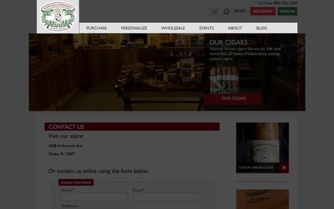Screenshot of Contact Page tampacigars.com - Contact Us | Custom Cigars | Rodriguez & Menendez Factory & Store - captured Oct. 6, 2014