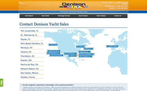 Screenshot of Contact Page denisonyachtsales.com - Yacht Broker Fort Lauderdale, FL, Holland, MI, Seattle, WA, San Carlos, Mexico | Denison Yacht Sales - captured Sept. 19, 2014
