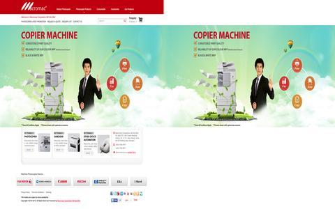 Screenshot of Home Page maccorp.com.my - Photocopier Malaysia | Photocopier Dealers |  Rental Photocopier Machine |  Canon Photocopier Malaysia |  Photocopier Machine |  Photocopier Rental |  Photocopier Lease |  Photocopier Purchase |  Reconditioned Photocopiers - captured Feb. 2, 2016