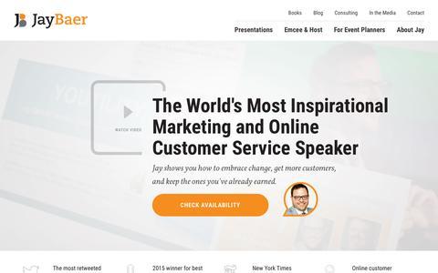 Jay Baer Marketing and Customer Service Keynote Speaker - Jay Baer is the world's most inspirational marketing and customer service keynote speaker.