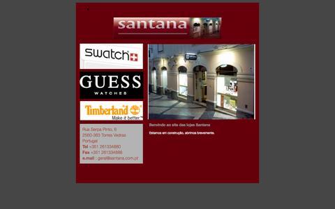 Screenshot of Home Page santana.com.pt - Benvindo ao site das lojas Santana - captured Oct. 4, 2014