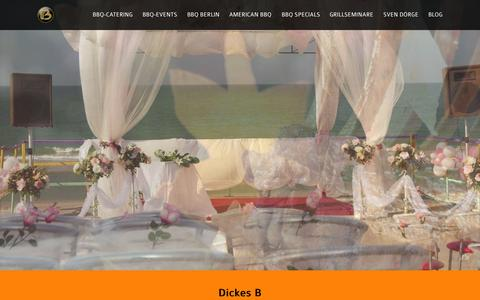 Screenshot of Home Page barbecue-catering.de - Dickes B - Grillcatering - captured Aug. 31, 2015