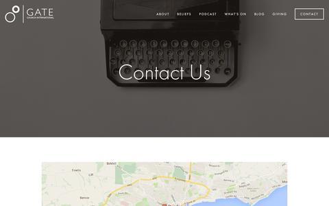 Screenshot of Contact Page gatechurch.co.uk - Contact — Gate Church International - captured Jan. 26, 2016