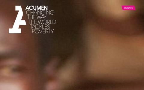 Screenshot of Home Page acumen.org - Acumen is a Bold New Way of Tackling Poverty - captured Dec. 11, 2015
