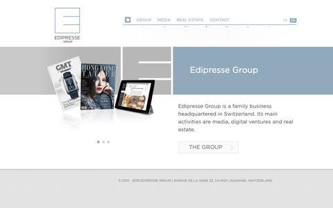 Screenshot of Home Page edipresse.com - Edipresse Group | Edipresse Group - captured Sept. 27, 2018