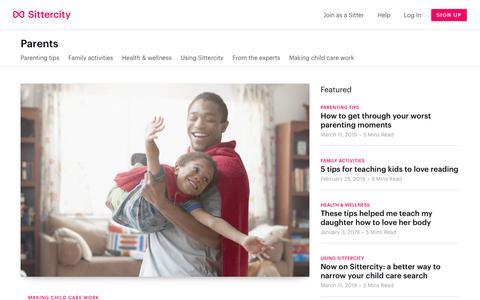 Screenshot of Blog sittercity.com - Sittercity parent blog - captured March 14, 2019