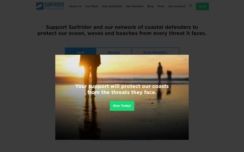 Screenshot of Signup Page surfrider.org - Support Surfrider - Surfrider Foundation - captured Nov. 10, 2018