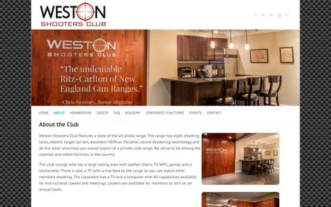 Screenshot of About Page westonshootersclub.com - About the Club – Weston Shooters Club - captured Oct. 20, 2018