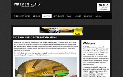 Screenshot of About Page pncbankartscentre.com - Pnc Bank Arts Center Information | PNC Bank Arts Center - captured Oct. 31, 2014
