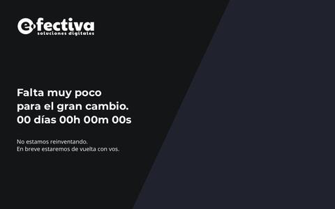 Screenshot of Home Page e-fectiva.com.ar - e-fectiva, soluciones digitales - captured Dec. 16, 2018