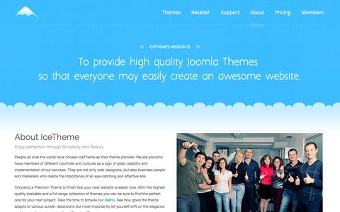 Screenshot of About Page Contact Page icetheme.com - About Us | IceTheme - captured Aug. 3, 2015