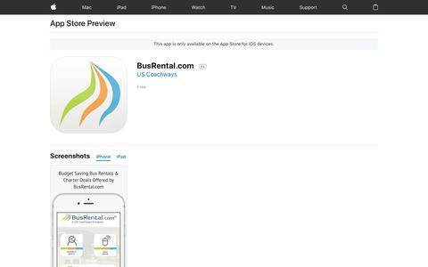 BusRental.com on the AppStore