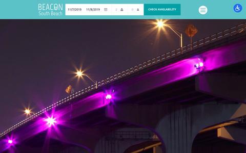 Screenshot of Contact Page beaconsouthbeach.com - Contact Us | Beacon South Beach - captured Nov. 6, 2019