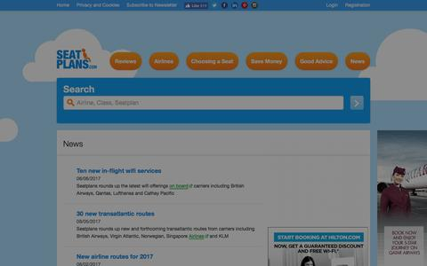 Screenshot of Press Page seatplans.com - News | Seatplans.com - captured July 2, 2017