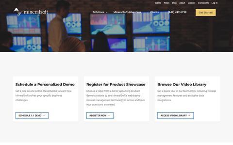 Screenshot of Contact Page mineralsoft.com - Get Started - MineralSoft - captured Nov. 2, 2018