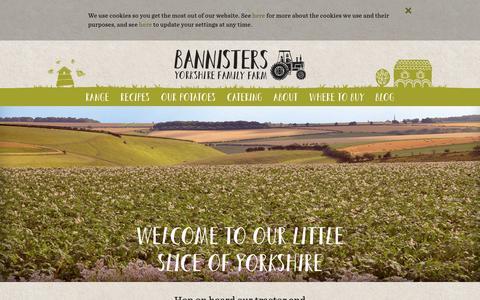 Screenshot of Home Page bannistersfarm.co.uk - Welcome to our little slice of Yorkshire - Bannisters Yorkshire Family Farm - captured Oct. 10, 2018