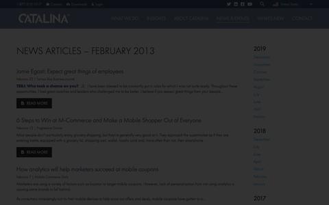 Screenshot of Press Page catalina.com - Catalina - captured Jan. 6, 2020