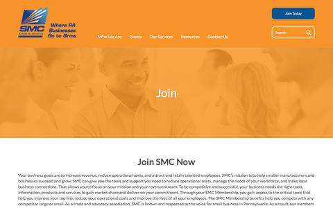 Screenshot of Signup Page smc.org - Join | SMC Business Councils - captured Sept. 29, 2017
