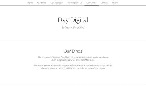 Screenshot of Home Page day-digital.com - Day Digital - captured Jan. 7, 2016