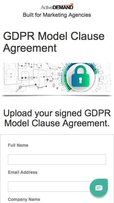 GDPR Compliance Model Clause Upload