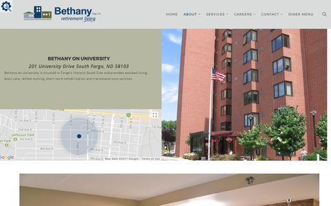Screenshot of Locations Page bethanynd.org - Locations | Bethany Retirement Living - captured Oct. 10, 2017