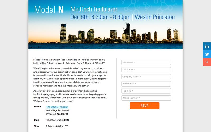 Model N| Join us at Medtech Trailblazer