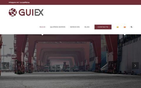 Screenshot of Home Page guiex.net - Asesoría y Gestión en comercio internacional - Guiex - captured Sept. 26, 2018